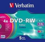 ���� DVD-RW VERBATIM 4.7GB 1-4X SLIM(5��)