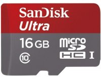 ����� ������ SANDISK Ultra Android microSDHC 16GB Class10 (SDSDQUAN-016G-G4A)