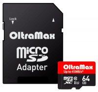 ����� ������ OLTRAMAX MicroSDXC 64Gb UHS-I(U1)