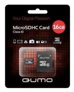 ����� ������ QUMO 16 Gb Micro SD�� Class 10 + ������� SD (QM16GMICSDHC10)