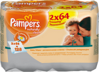 ������� �������� PAMPERS Natural Clean ������� ���� 2x64 ��. (81448785)