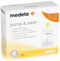 ������ ��� ����� � �������� �������� ������ MEDELA Pump&Save, 20 ��. (008.0071)
