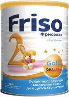 �������� ����� FRISO �������� 2 Gold � DHA/�RA, 6-12 ���., 400 �