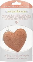 ����� ��� �������� ���� THE KONJAC SPONGE Premium Heart Puff with French Pink Clay