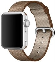������� ��� ����� ����� APPLE Watch 38mm, Toasted Coffee/Caramel Woven Nylon (MNK42ZM/A)