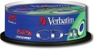 ���� CD-R VERBATIM 700MB 52XDL CAKE (25��.)
