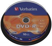 ���� DVD-R VERBATIM 4.7GB 16XCAKE (��.�10��.)