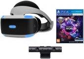 Шлем виртуальной реальности PlayStation CUH-ZVR1 + PlayStation Camera v2 + Наушники + Игра VR Worlds