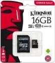 Карта памяти Kingston microSDHC 16GB Class 10 UHS-I U1 + SD адаптер (SDCS/16GB)