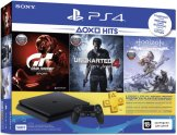 Игровая приставка PlayStation 4 500GB + Gran Turismo Sport + Uncharted 4: Путь вора + Horizon Zero Dawn + PS Plus на 3 месяца (CUH-2208A)
