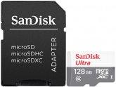 Карта памяти SanDisk Ultra 128GB UHS-I + адаптер (SDSQUNR-128G-GN6TA