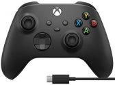 Геймпад Microsoft Xbox Black + кабель USB Type-C (1V8-00008)