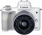 Системный фотоаппарат Canon EOS M50 Mark II 15-45mm f/3,5-6,3 IS STM White