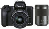 Системный фотоаппарат Canon EOS M50 Mark II 15-45mm + 55-200mm IS STM Black