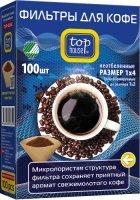 Фильтры для кофе Top House размер 1x4, 100 шт (390629)