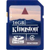 Карта памяти Kingston 16GB SDHC4