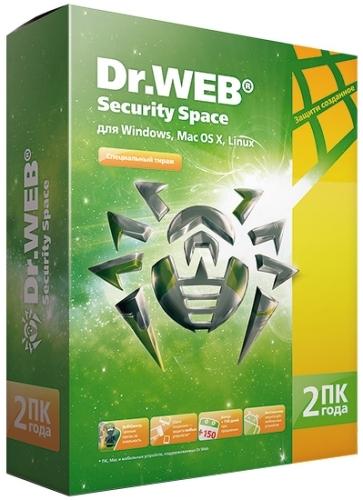 Купить Антивирус Dr.Web, Security Space 2ПК/2 года