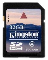 Карта памяти Kingston 32GB SDHC4