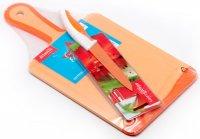 Набор кухонная доска+нож Atlantis DL -01 цвет в ассортименте