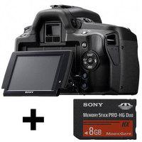 Цифровой фотоаппарат Sony DSLR-A390L Kit 18-55 + ультраскоростная карта Sony MS  8 Gb