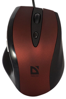 Купить Мышь Defender, OPERA 880 Red+Black