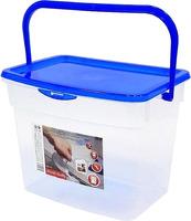 контейнер для стирального порошка с иллюминатором violet ротанг цвет коричневый 10 л 811212 Контейнер для стирального порошка Plast Team PT9057 4.5 л