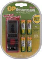 Комплект GP Зарядное устройство PB330 + 4 аккумулятора АА (LR6) (PB330GSC250-CR4)