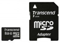 Карта памяти Transcend TS8GUSDHC10 microSDHC 8Gb Class 10