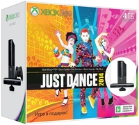 Купить Игровая приставка Microsoft, Xbox 360 E 4Gb + Kinect + Kinect Adventures + JustDance 2014