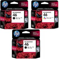 Комплект картриджей HP 46 2xBlack + 46 Tri-colour F6T40AE