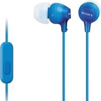 Наушники с микрофоном Sony MDR-EX15AP Blue