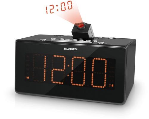 Купить Часы с радио Telefunken, TF-1542 Black/Orange