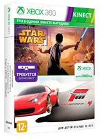 Игра для Xbox 360 Microsoft Forza Motorsport 4 + Kinect Star Wars + Xbox Live: карта оплаты 1000 рублей