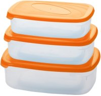 Набор контейнеров для СВЧ Plastic Centre Galaxy 3 шт. Orange (ПЦ2234)