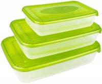 Набор емкостей Plast Team Polar Microwave 3 шт. Green (PT1685)