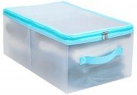 Коробка для хранения на молнии Hausmann 26х43х18 см., голубая (HM-5P-101-BL)