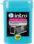 Чистящие салфетки для экранов Intro V300450, 100 шт.