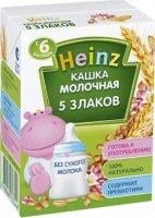Молочная питьевая каша Heinz 5 злаков, 200 мл
