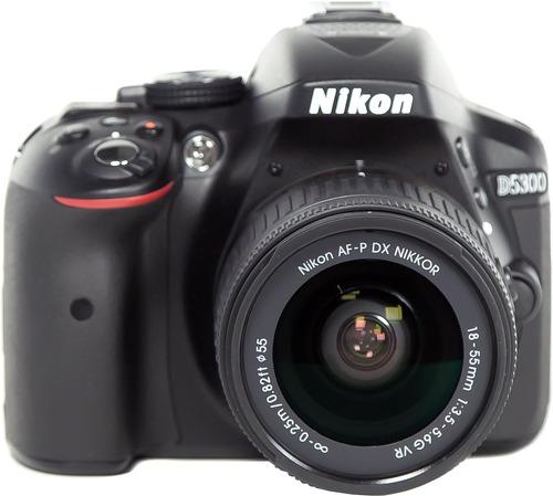 Купить Зеркальный фотоаппарат Nikon, D5300 Kit 18-55mm VR AF-P Black