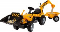 Трактор на педалях Smoby С ковшом и прицепом (33389)