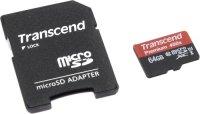 Карта памяти Transcend microSDXC 64Gb UHS-I 400x Premium (TS64GUSDU1)