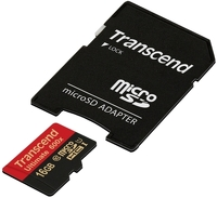Карта памяти Transcend microSDHC 16Gb UHS-I 600x Ultimate (TS16GUSDHC10U1) фото