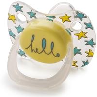 Силиконовая соска-пустышка с колпачком Happy Baby Baby Pacifier ортодонтической формы, 0-12 мес., Yellow
