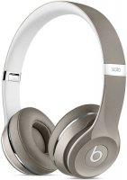 Наушники с микрофоном Beats Solo 2 Luxe Edition Silver, MLA42ZE/A