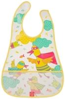 Нагрудник на липучке Happy Baby Waterproof Baby Bib Yellow (ducks), 16005