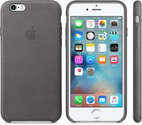 Чехол Apple Leather Case для iPhone 6/6s Storm Gray (MM4D2ZM/A)