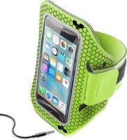 "Спортивный наручный чехол Cellular Line Armband Running Lime (до 5,2"")"