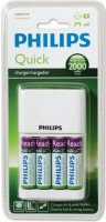 Зарядное устройство Philips Quick Charger SCB2491WB/12 + 4AA RTUx2000mAh