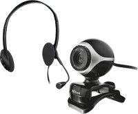Веб-камера и наушники с микрофоном Trust Chat & VoIP Pack Exis Black, 17028