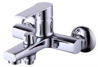 Смеситель для ванны и душа Smartsant Шот, излив 120 мм, переключатель с керамическими пластинами, с аксессуарами (SM193503AA_R)